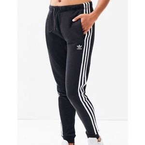 Adidas Originals Black Regular Cuffed Track Pants